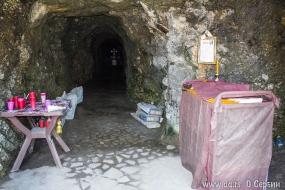 В глубине пещеры крест