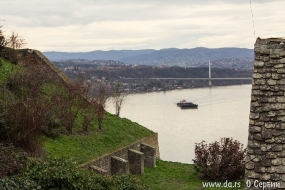 Баржа на Дунае