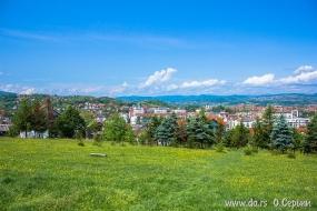 Вид на центр города с горы Шанац