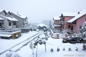 Снегопад в Лознице