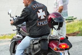 Сербский байкер