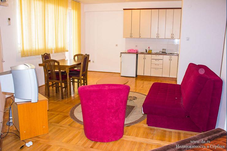 Квартиры-студии в центре Баня Ковиляча у самого санатория