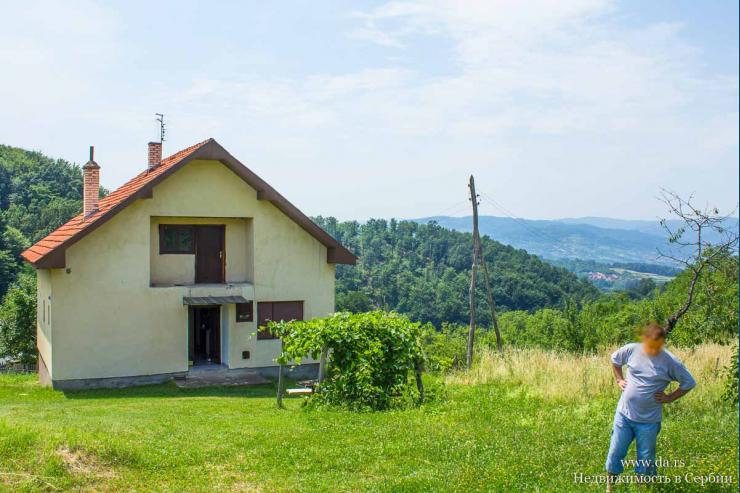 Дом с садом на горе Гучево в Баня Ковиляче