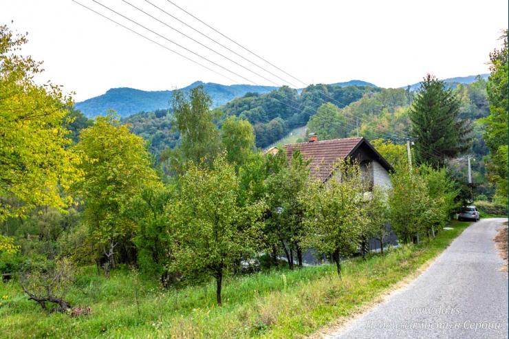 Дом с большим участком среди гор в пригороде Лозницы