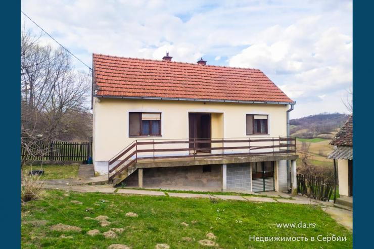 Дом в селе с двумя гектарами земли